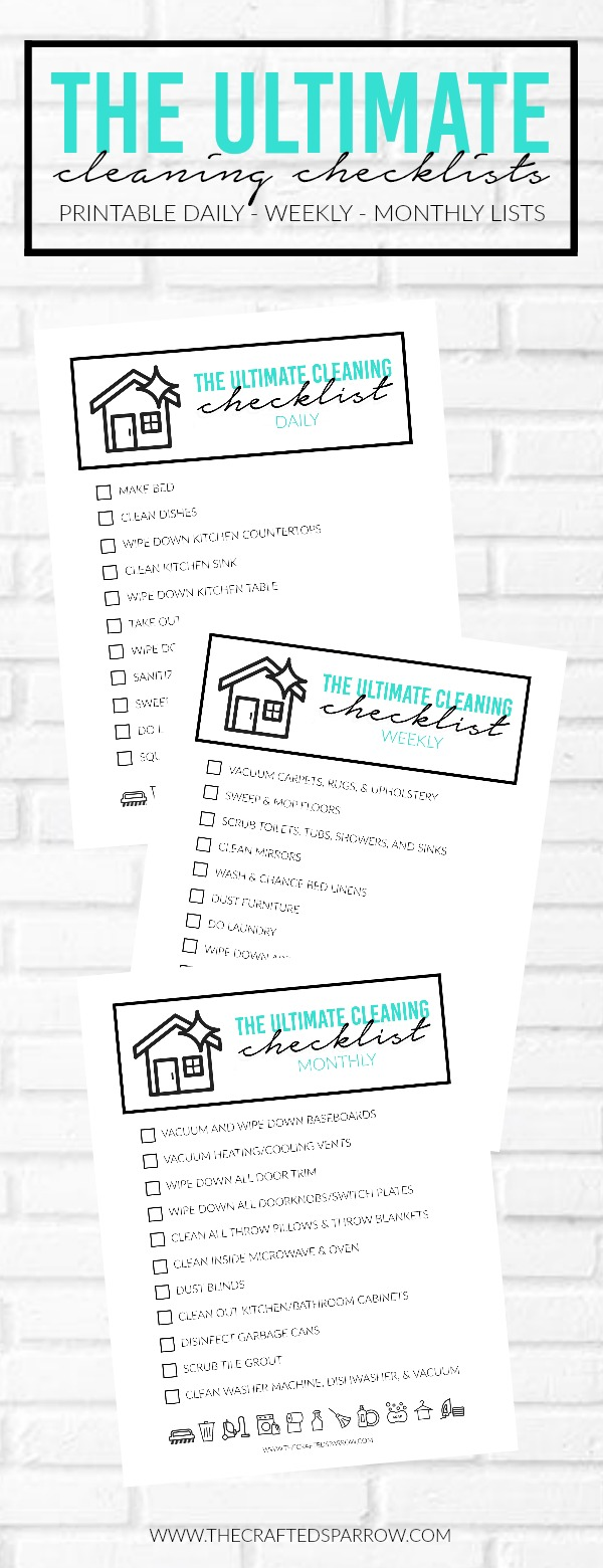 The Ultimate Cleaning Checklist Printables