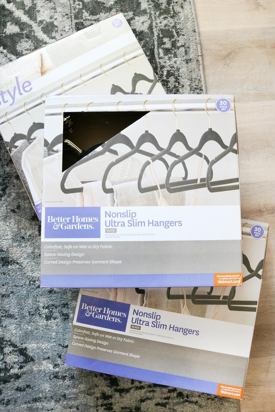 Better Homes & Gardens Nonslip Ultra Slim Flocked Hangers
