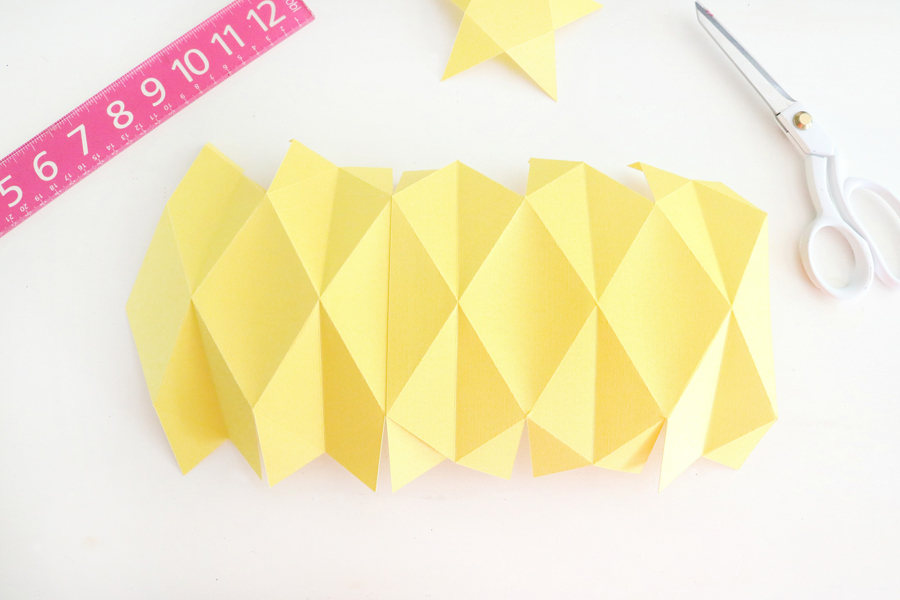 Cute Pineapple Paper Vase Made with The Cricut Maker