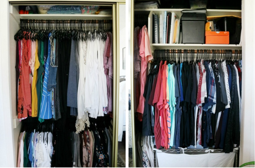 Easy Closet Organization Ideas for Small Spaces - Before