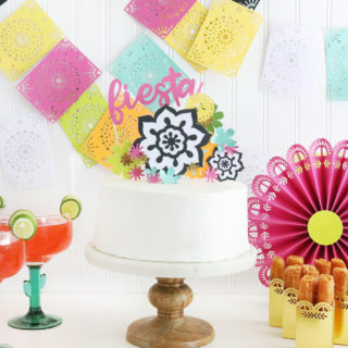 Easy DIY Fiesta Inspired Cake Toppers & Treat Bags
