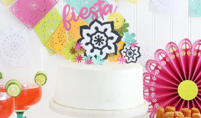 Easy DIY Fiesta Inspired Cake Toppers & Treat Bags with the Cricut Scoring Wheel