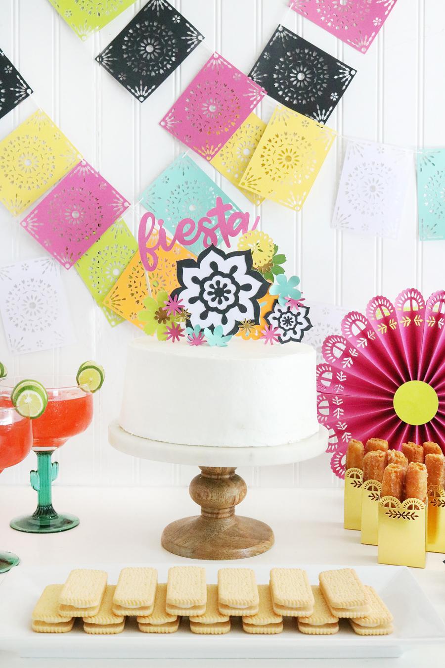 Easy DIY Fiesta Inspired Cake Toppers & Treat Bags