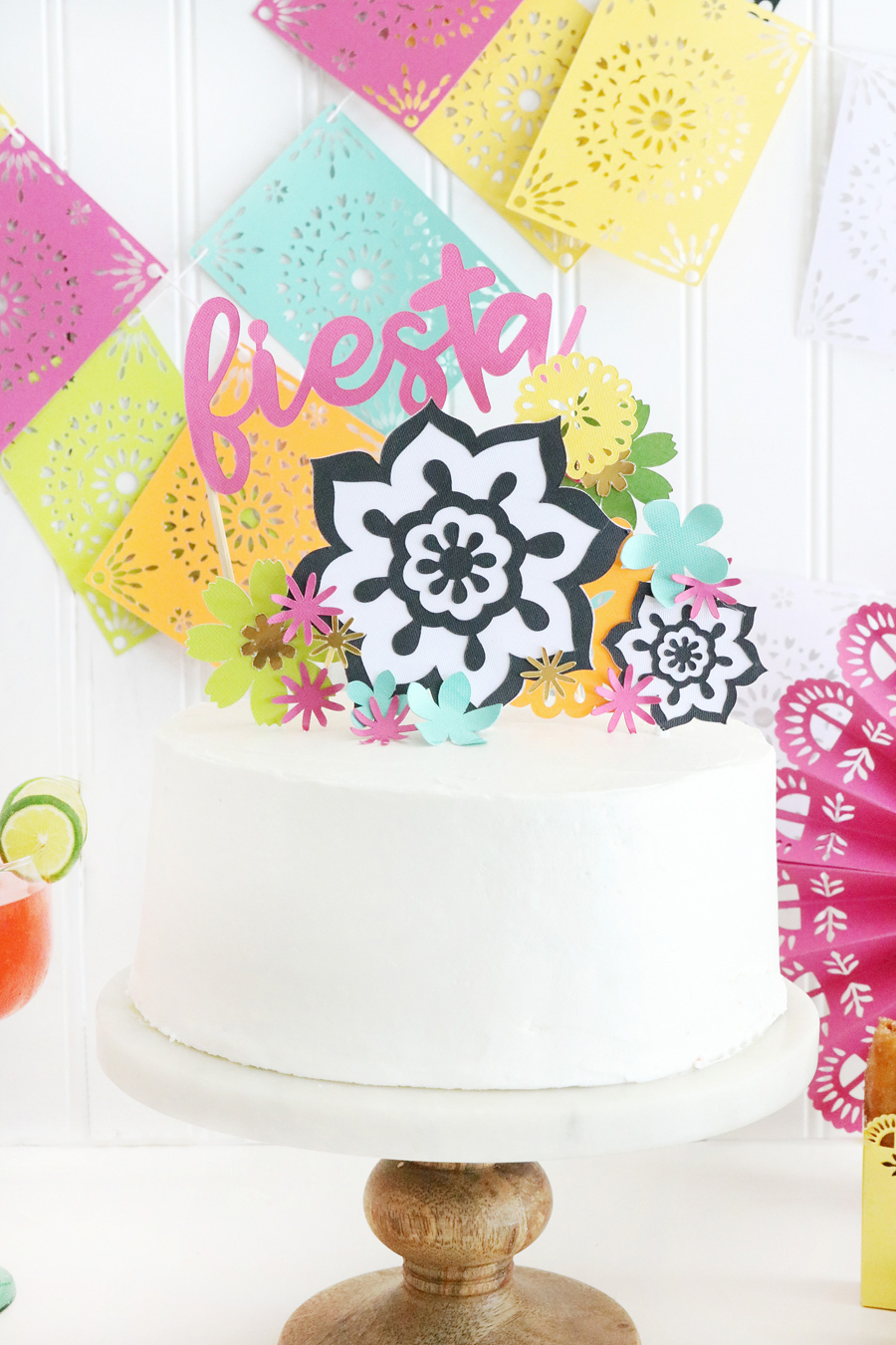Easy DIY Fiesta Inspired Cake Toppers with Cricut Maker