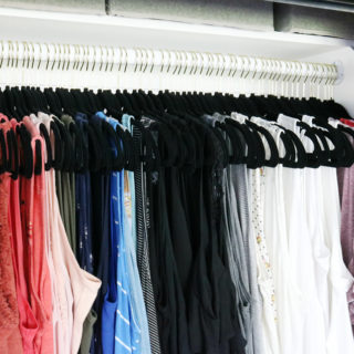 Easy Organization Idea - Organize clothing by type and color like the rainbow