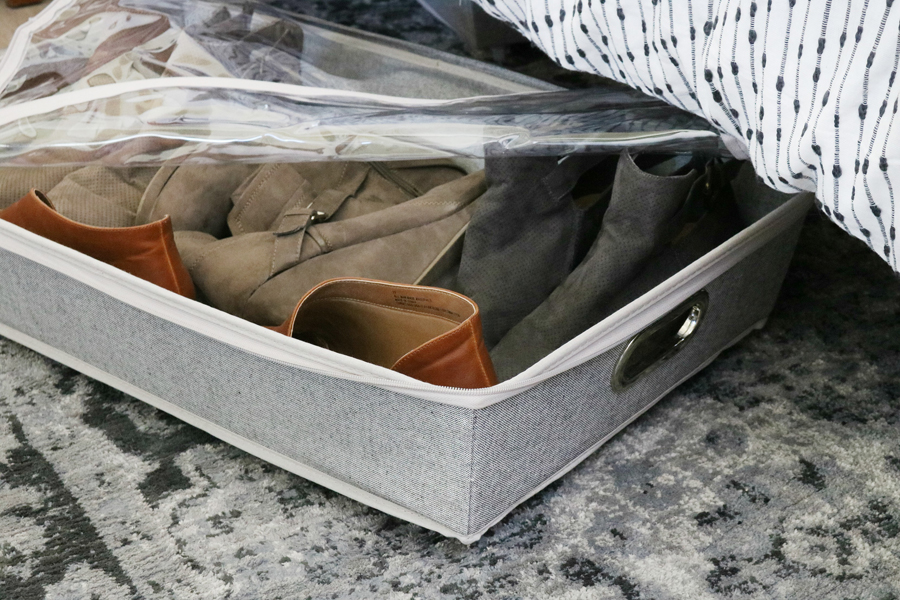 Easy Organization Idea - Use rolling storage for under the bed