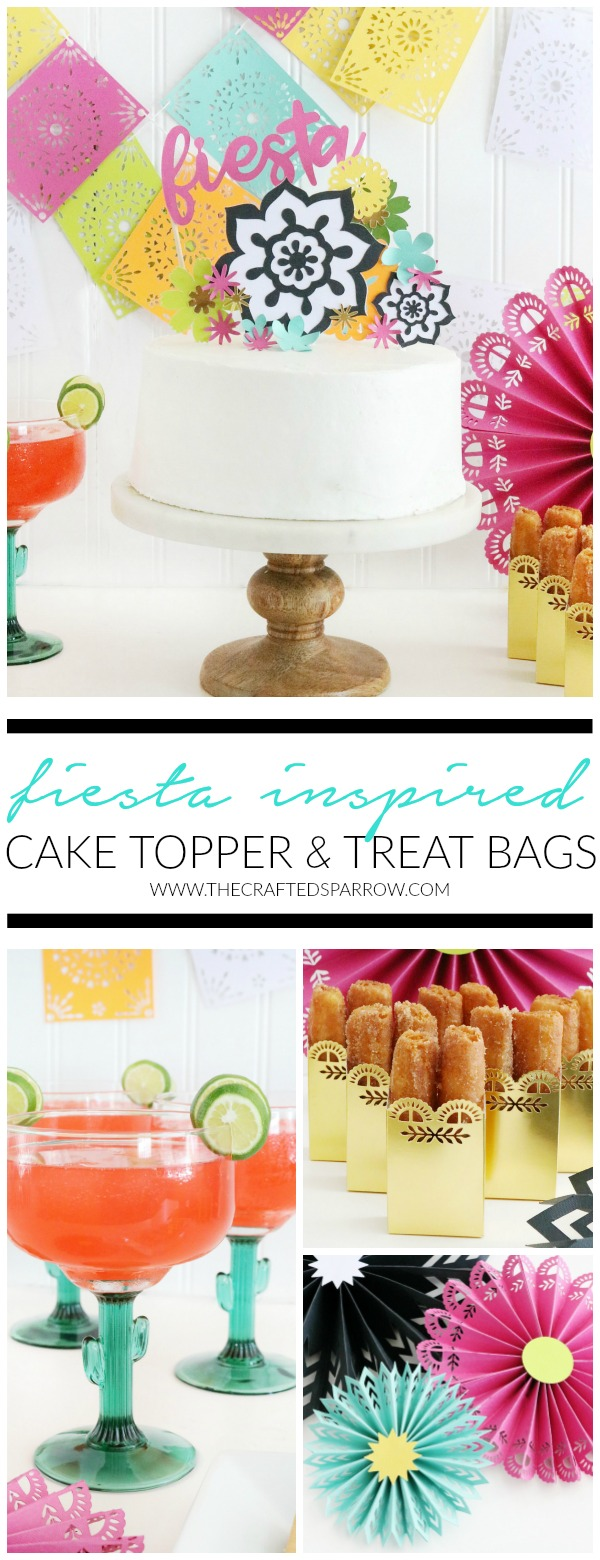 Fiesta Inspired Cake Topper & Treat Bags