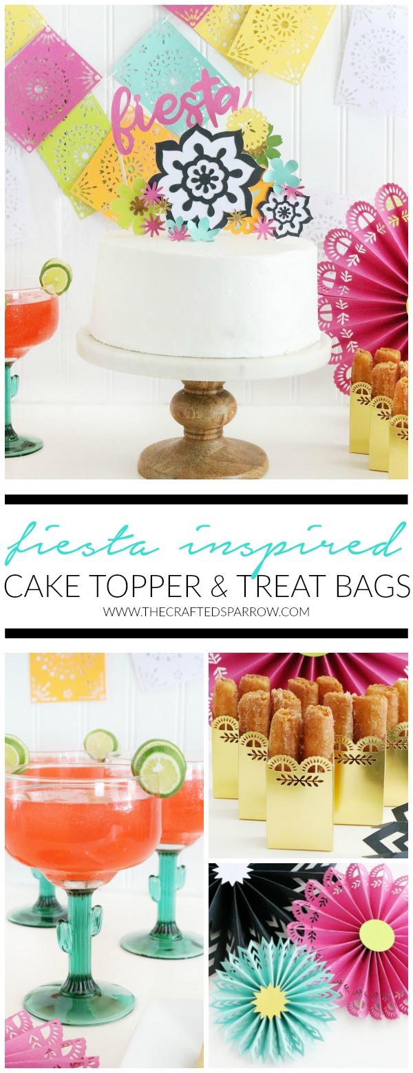 Fiesta Inspired Cake Topper & Treat Bags