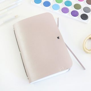 DIY Leather Watercolor Travel Journal with The Cricut Maker and Scoring Wheel