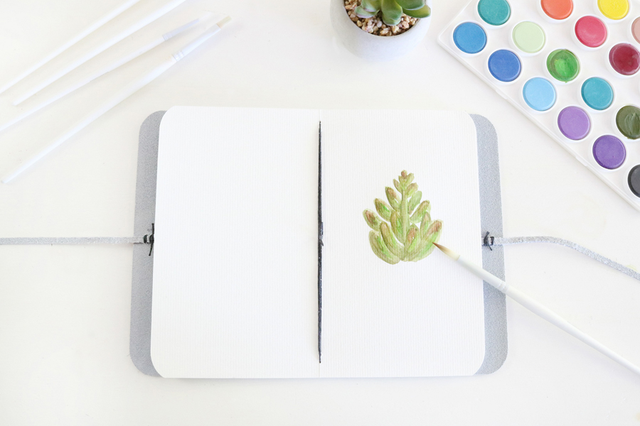 DIY Leather Watercolor Travel Journal - The perfect gift idea for any artist.