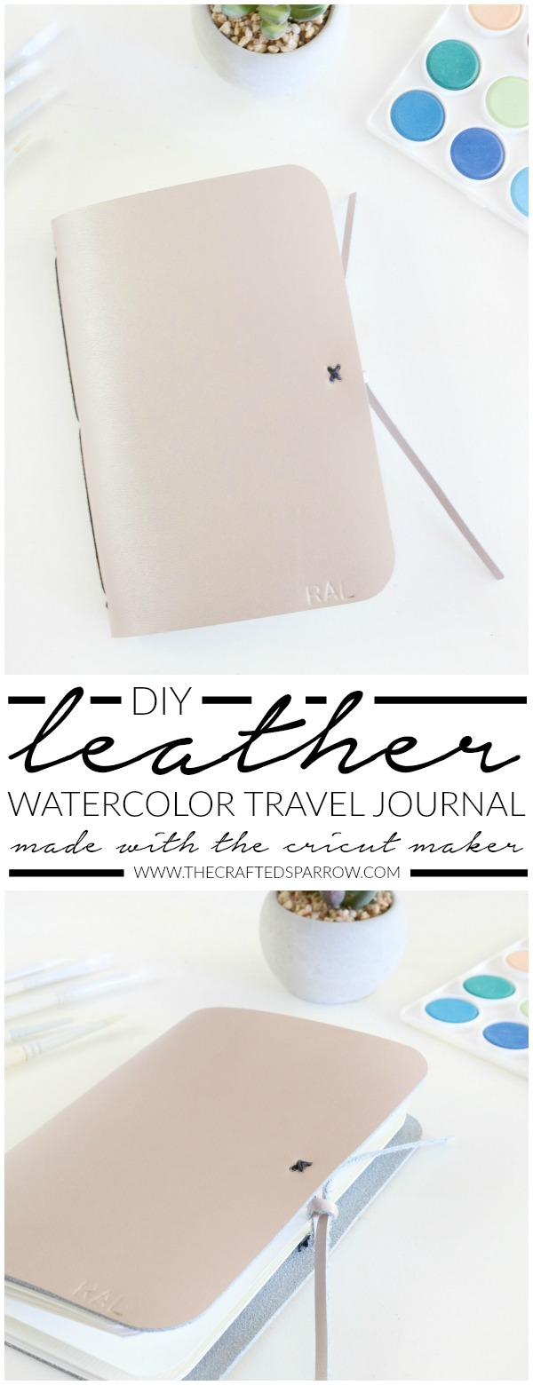 DIY Leather Watercolor Travel Journal