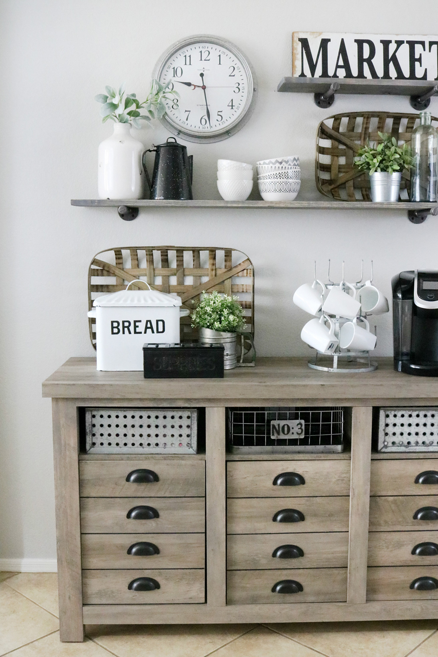 Walmart Living Room Wall Decor: Modern Farmhouse Inspired Coffee Bar Station