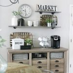 Modern Farmhouse Inspired Coffee Bar Station
