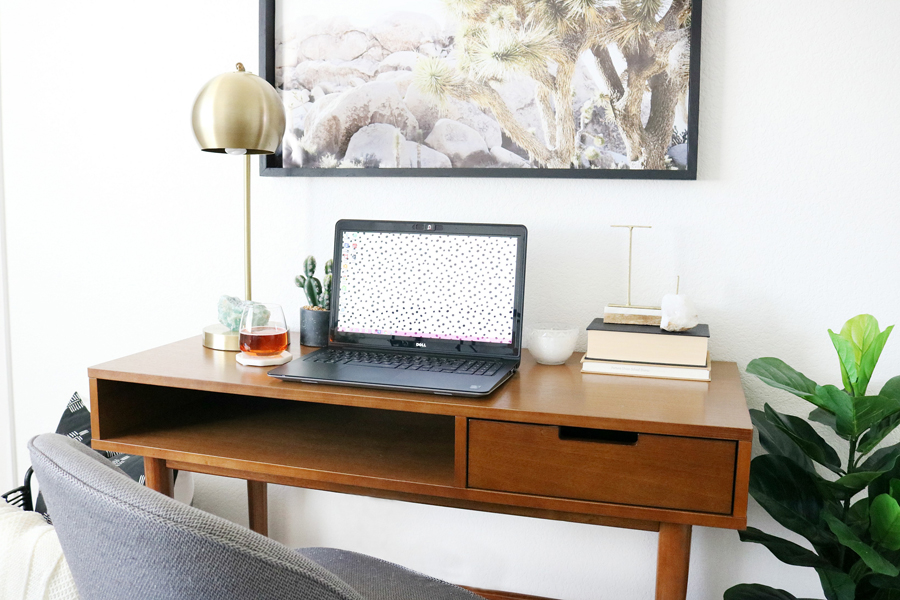 BHG Live Better Mid-Century Modern Flynn Desk
