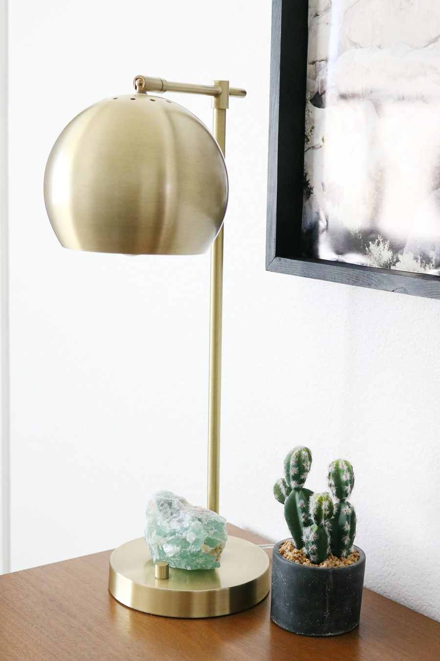 Better Homes & Gardens Brass Orb Desk Lamp