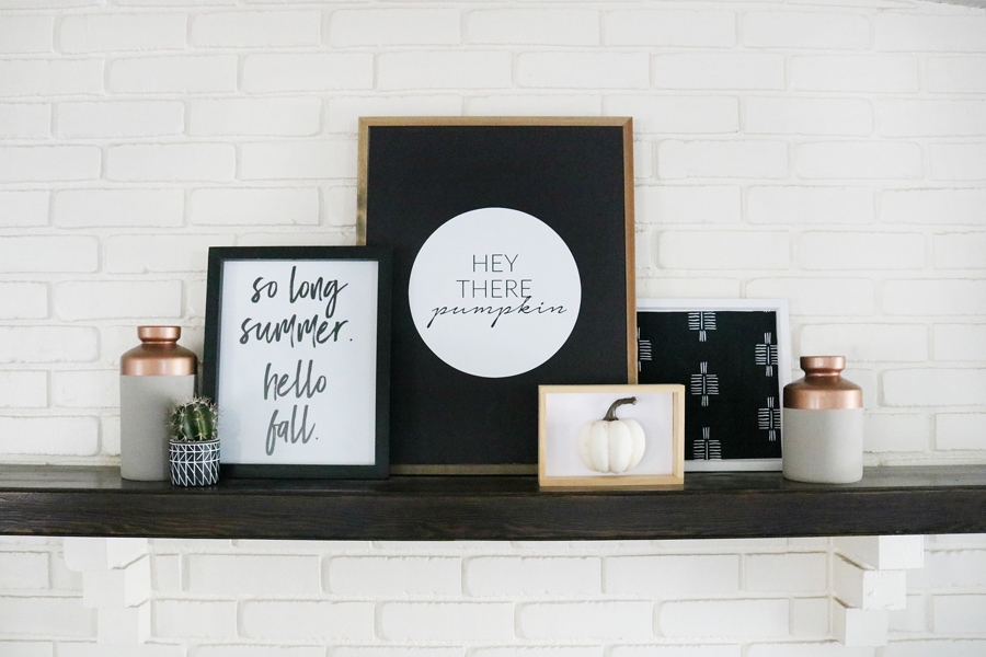 Black & White Modern Fall Decor