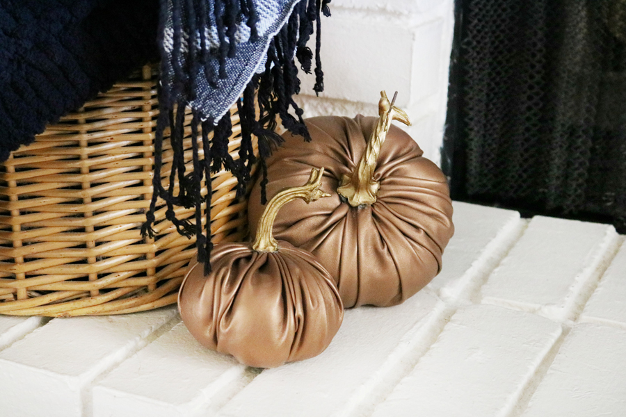 Copper Faux Leather Pumpkin Fall Decor