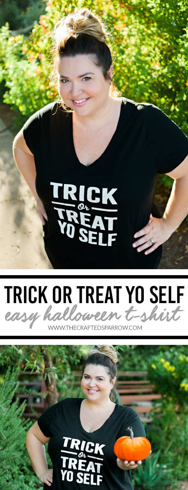 DIY Trick or Treat Yo Selft Easy Halloween T-Shirt