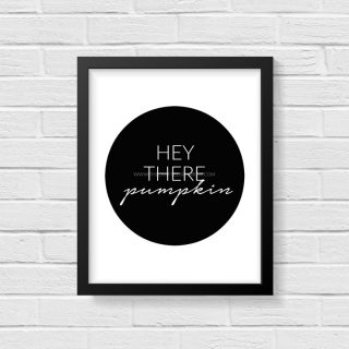 "Simple and Modern ""Hey There Pumpkin"" Fall Printables"