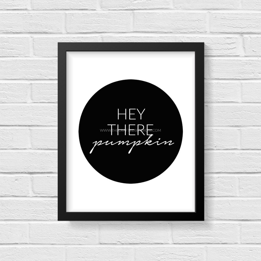 Download this Simple and Modern Hey There Pumpkin Fall Printable and frame!