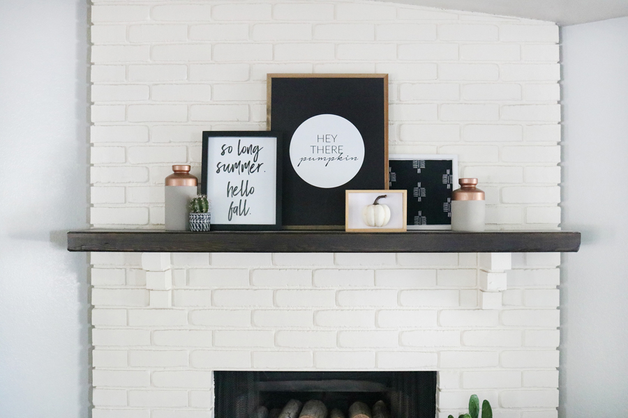 Simple and Modern Black & White Fall Decor