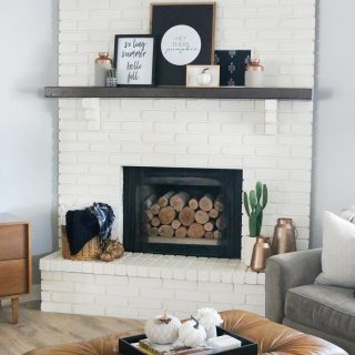 Black & White Simple and Modern Fall Mantel Decor