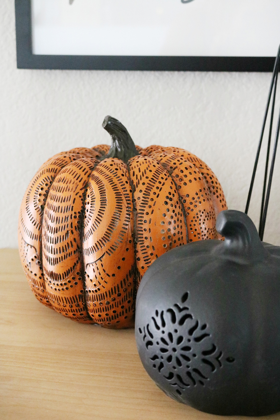 Cute Pumpkin Halloween Decor from Joann Fabric and Craft Stores