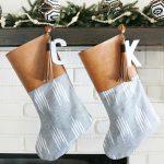 DIY Boho Inspired Leather Tassel Christmas Stockings