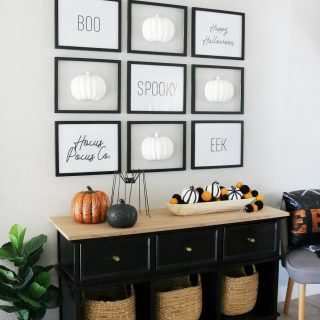 Simple Black & White Gallery Wall Halloween Decor