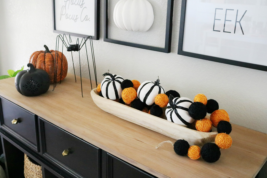 Simple and Modern Black & White Halloween Decor