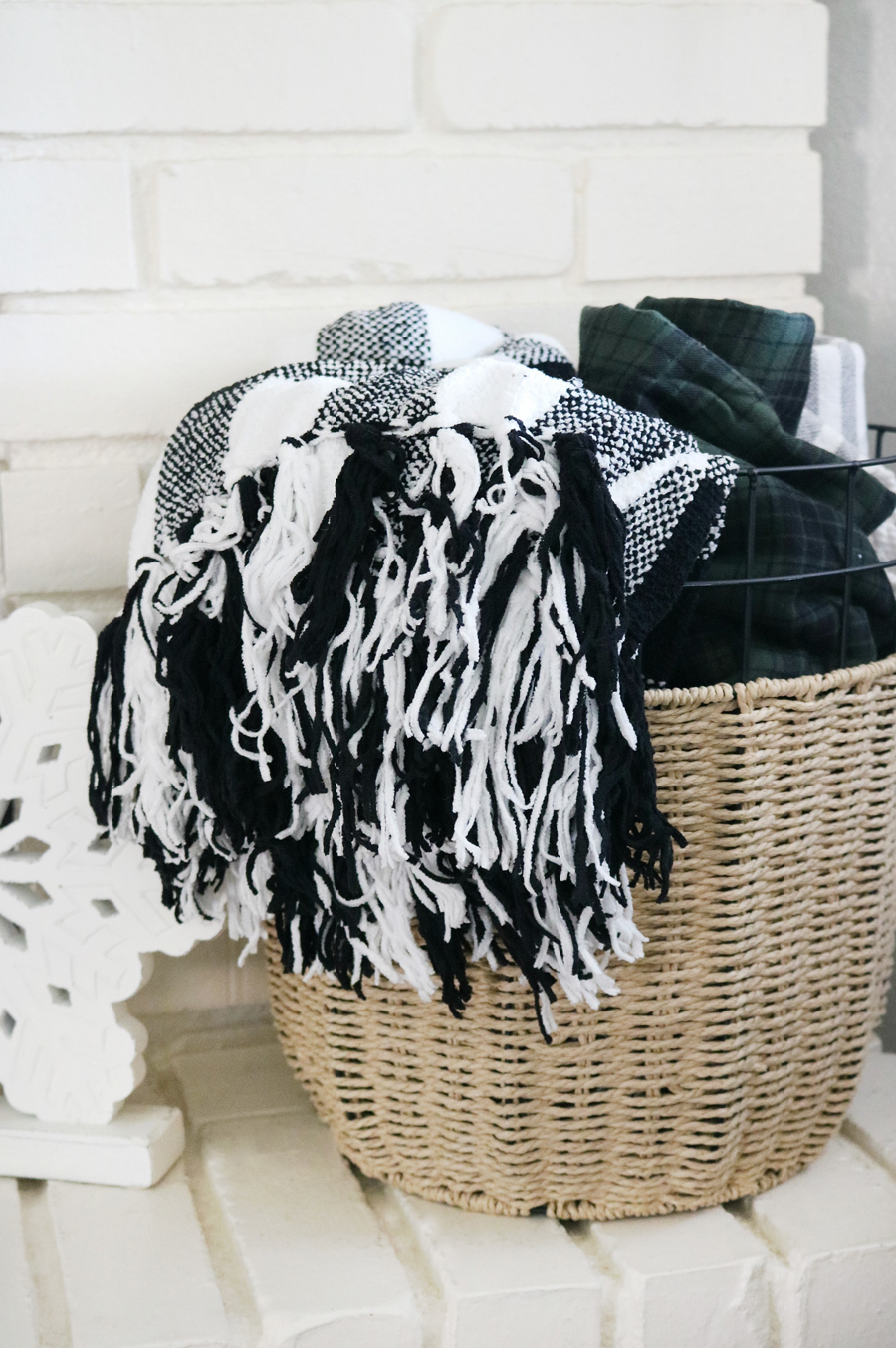 Black & White Boho Christmas Decor