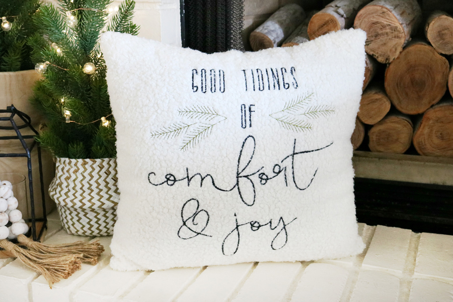 Black & White Christmas Decor found at Joann Fabric and Craft Store