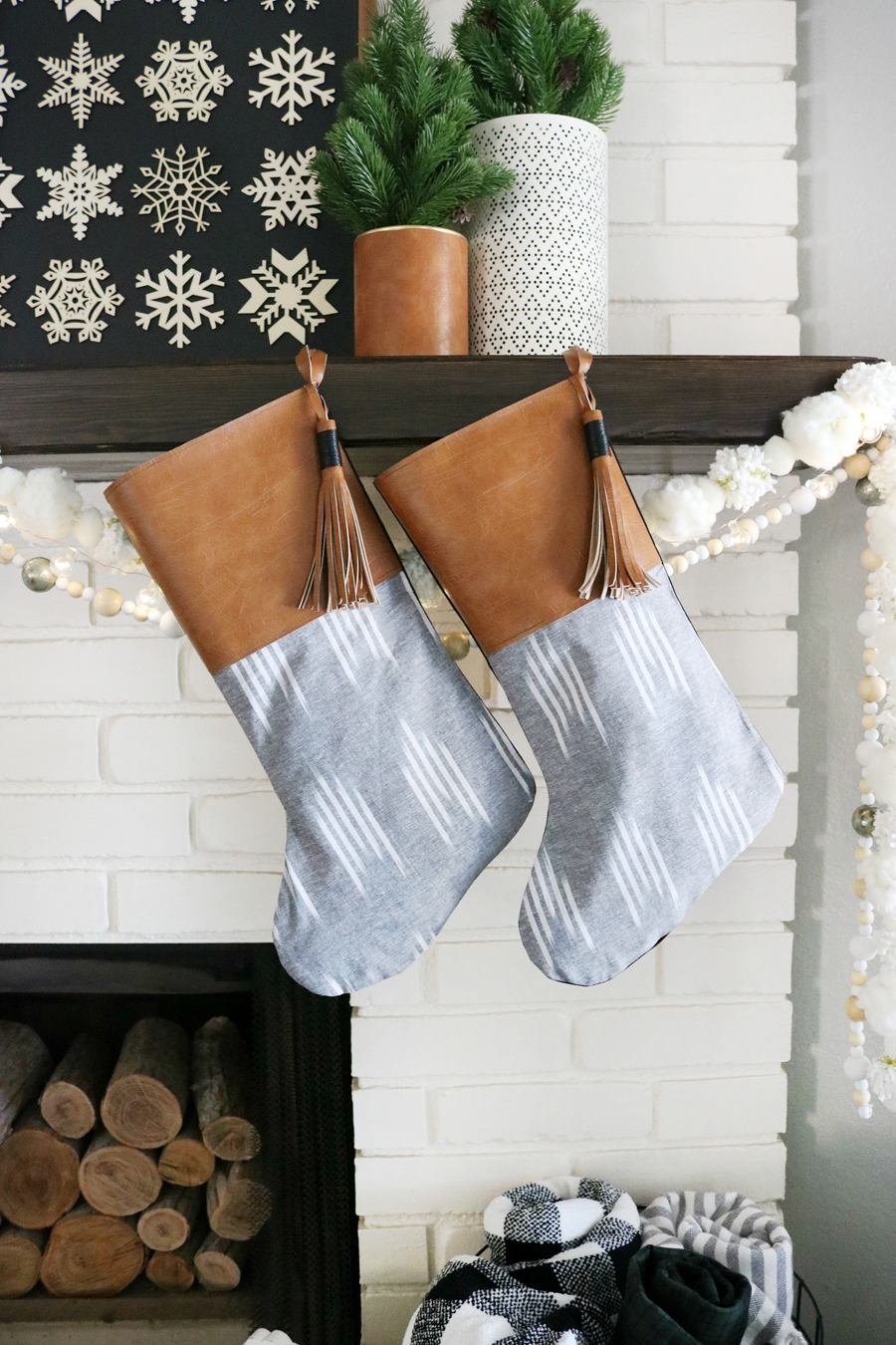 DIY Boho Inspired Christmas Stockings