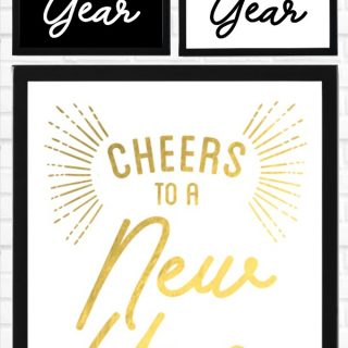 New Year's Eve Printable Sign Decor