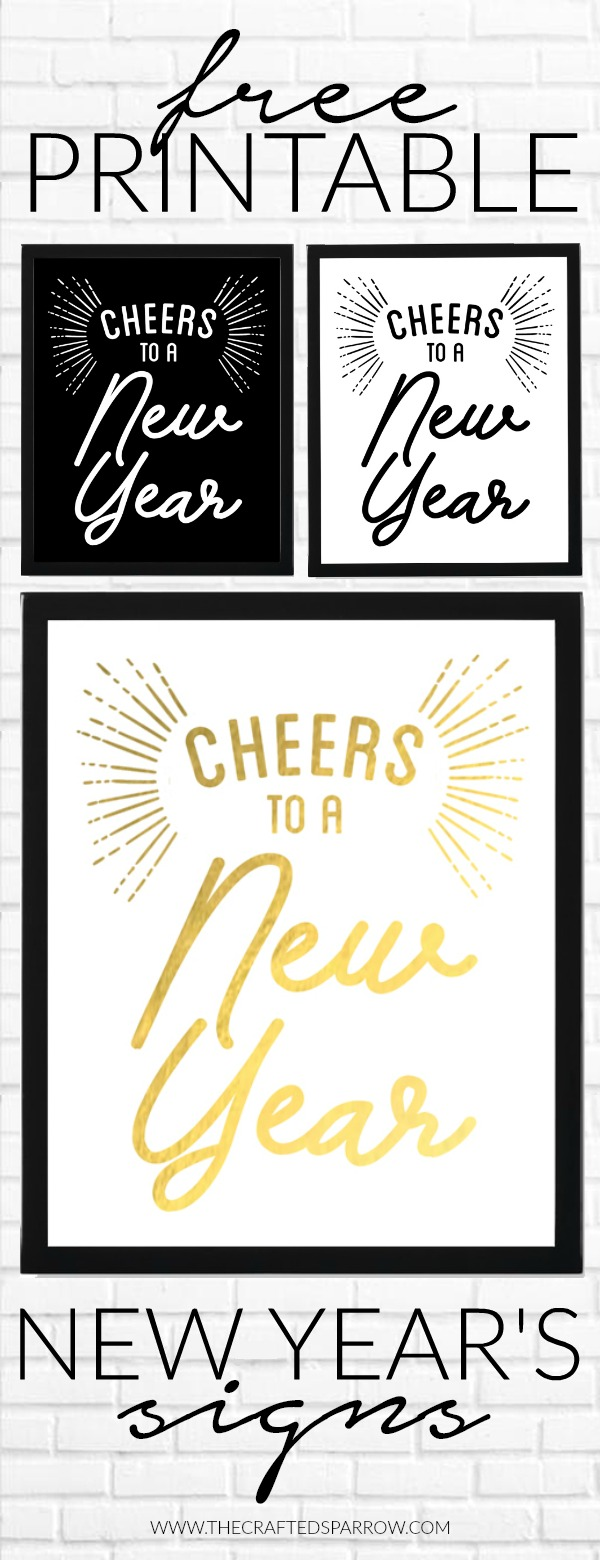 Free Printable New Year's Signs