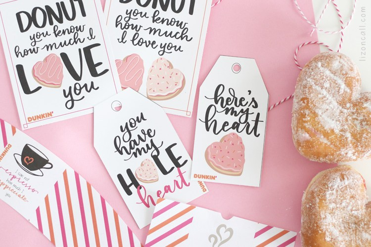 Dunkin Donuts Valentine's Day Printables