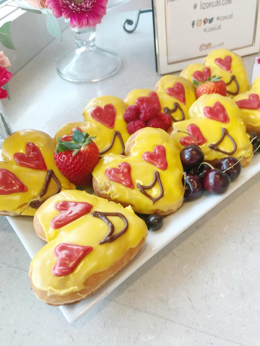 Dunkin Donuts Emoji Valentine's Donuts