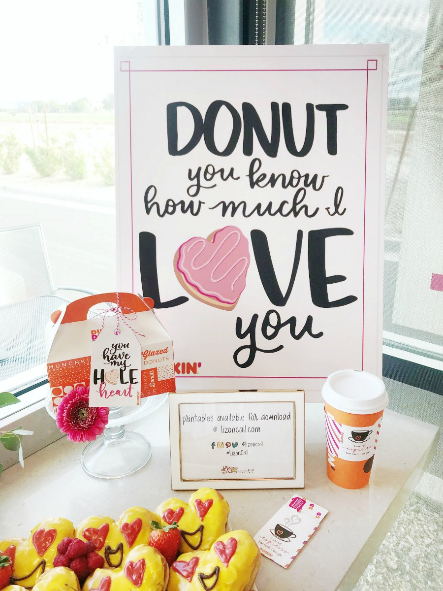 Dunkin Donuts Valentine's Day Printable Ideas
