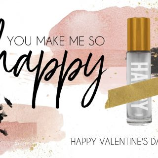 Essential Oils Roller Ball Printable Valentine's Day Card Gift Idea