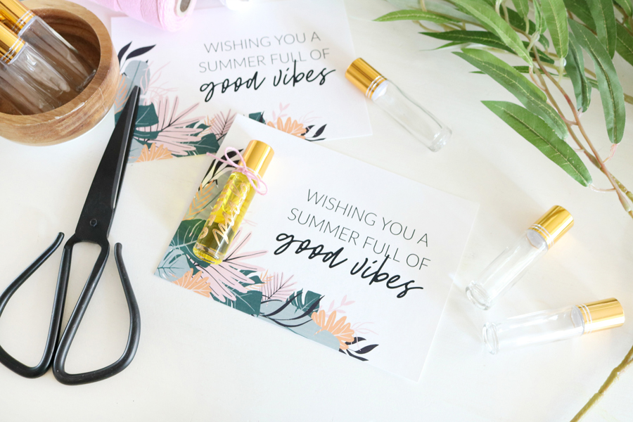 Summer Essential Oil Printable Card