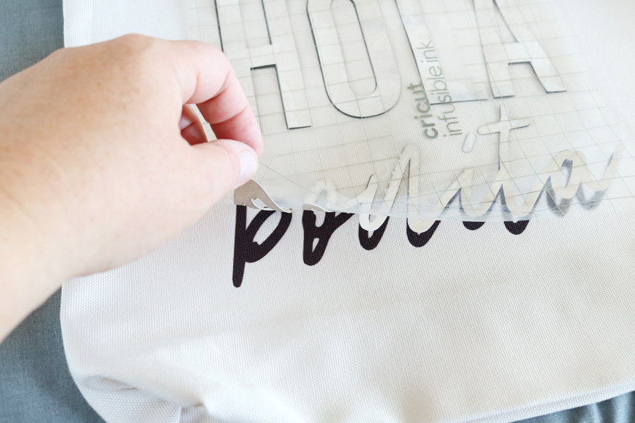 DIY Tote Bag Made Using Cricut Infusible Ink