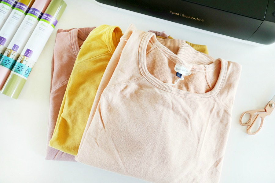 DIY Graphic Sweatshirts with The Cricut Explore Air 2 Cutting Machine