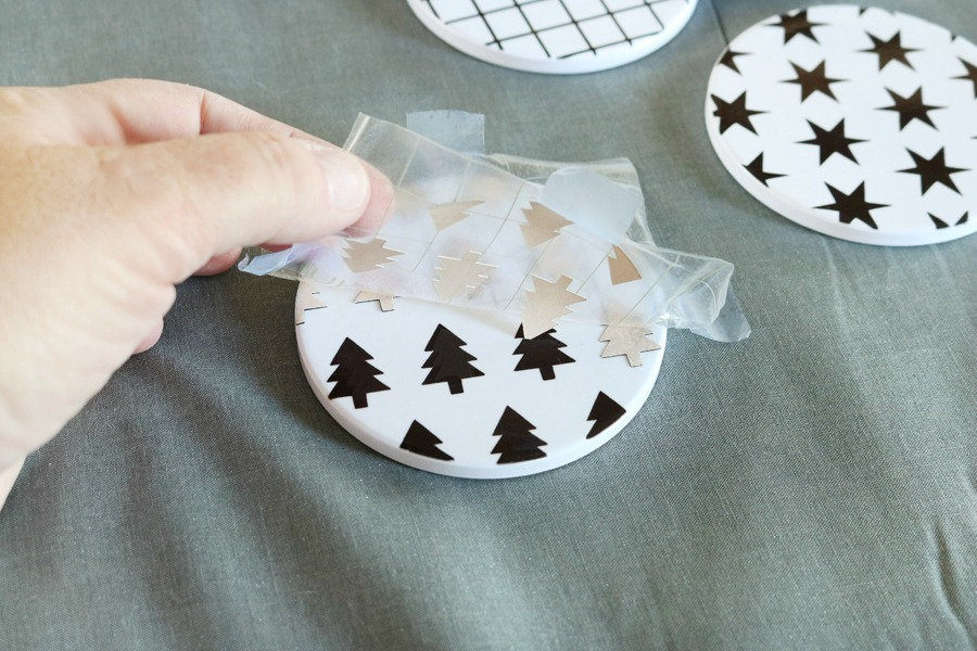 DIY Holiday Coasters with Infusible Ink