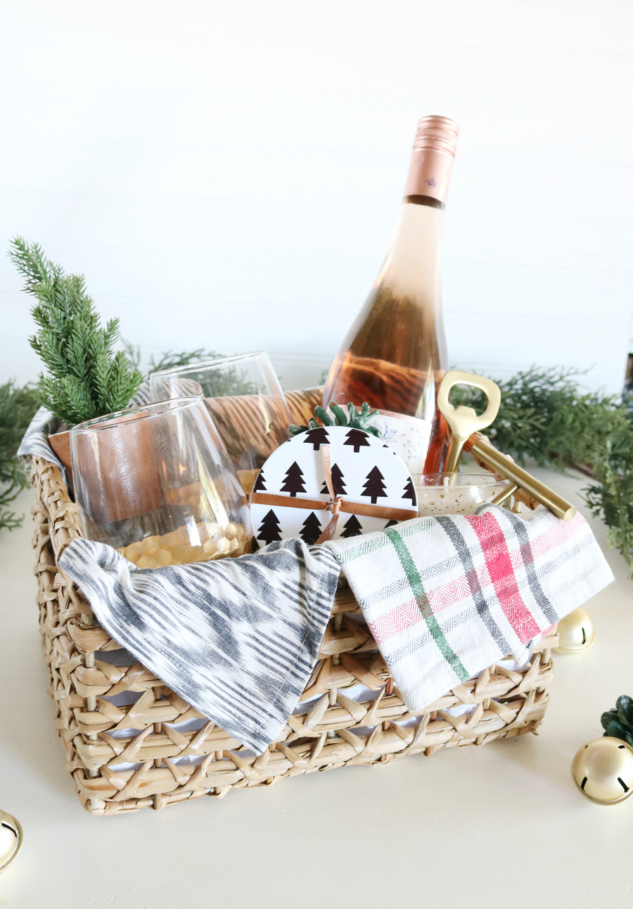 DIY Modern Coasters and Gift Basket Idea with Cricut Infusible Ink