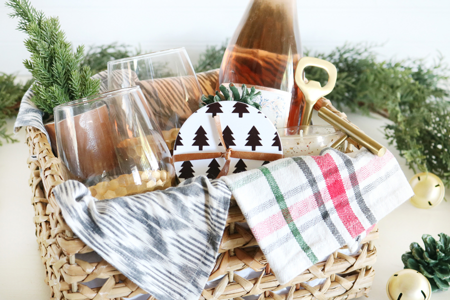Easy Christmas Gift Basket Idea with Cricut Infusible Ink