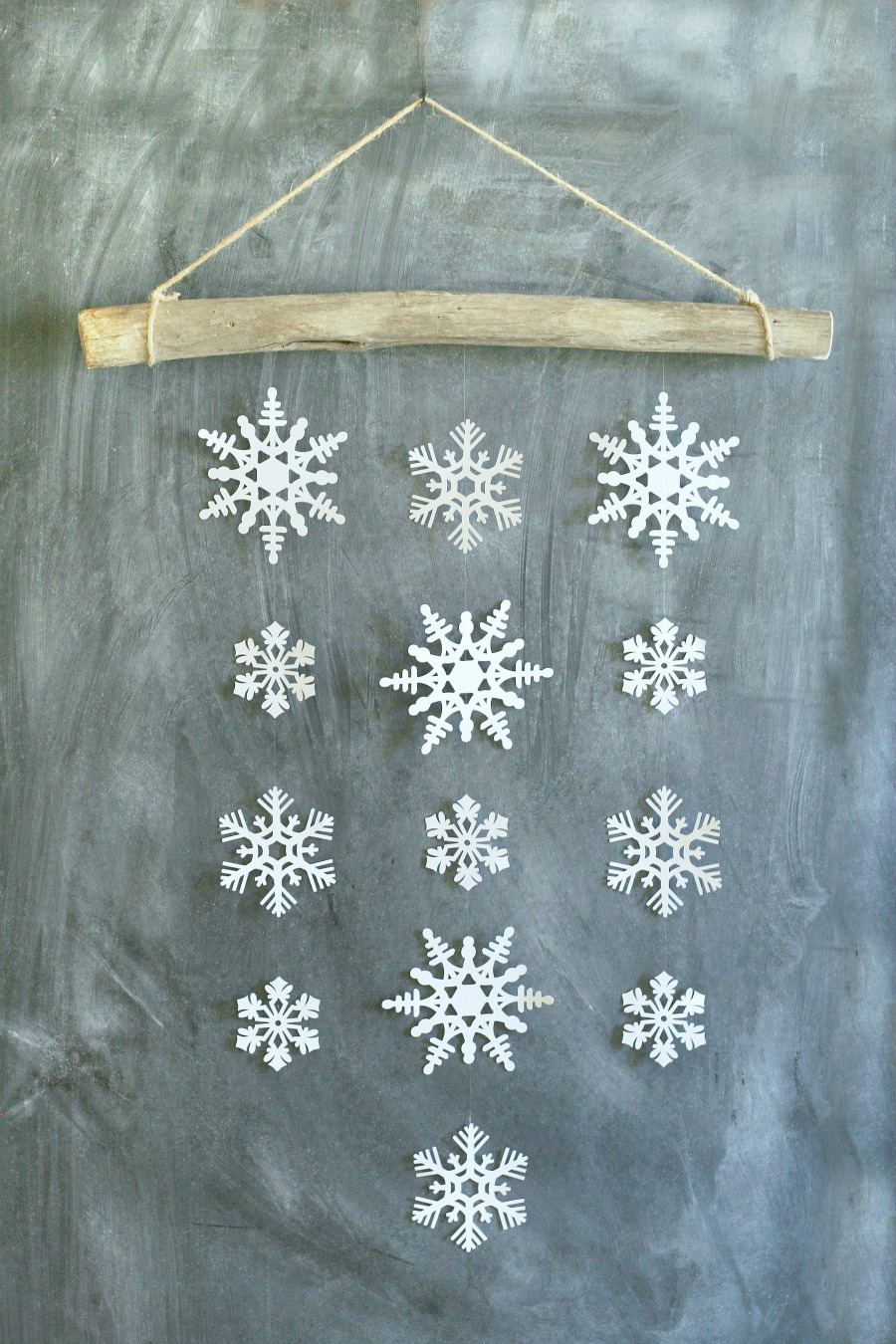 Simple Snowflake Wall Hanging Winter Decor