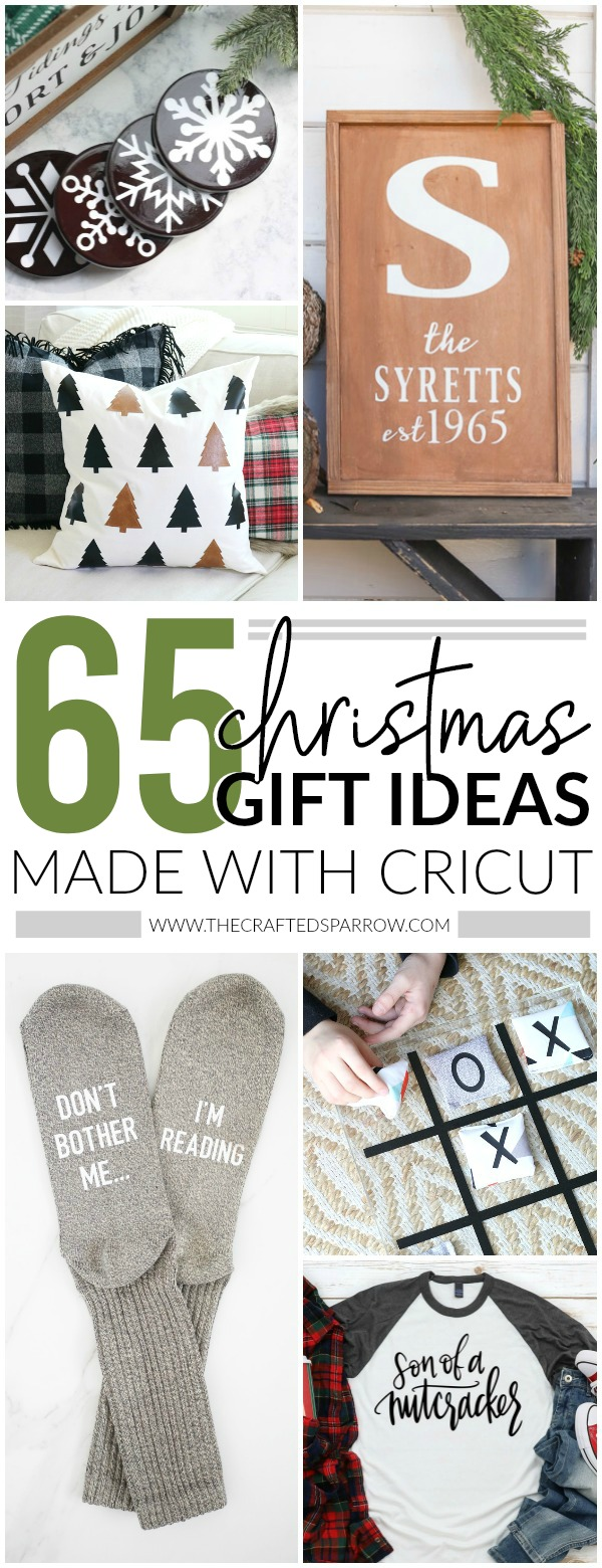 65 Christmas Gift Ideas for Everyone Made with Cricut