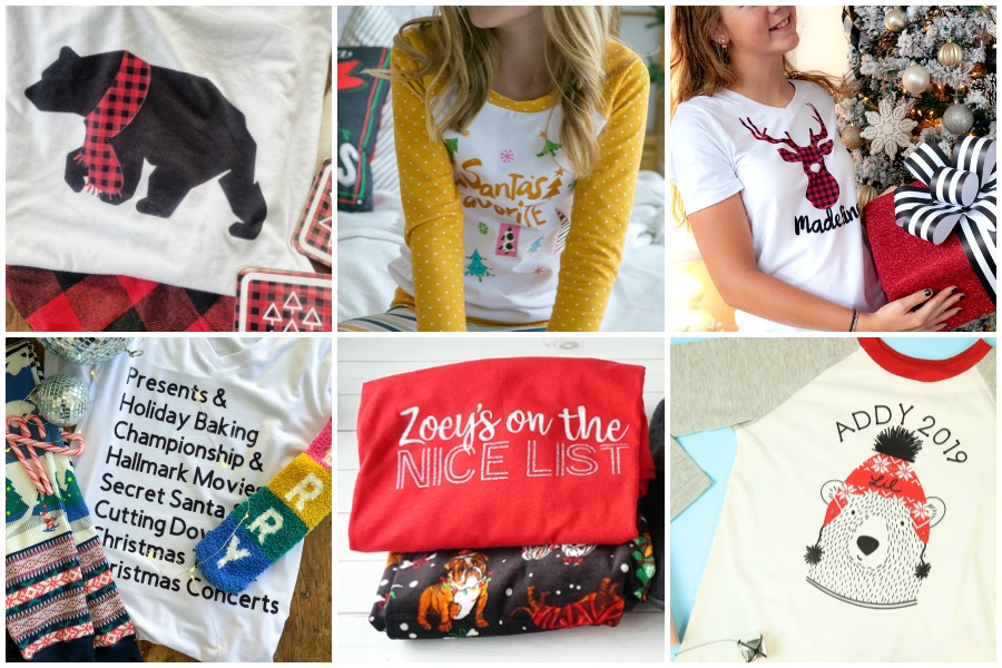 Cricut Christmas Pajama Ideas for Everyone