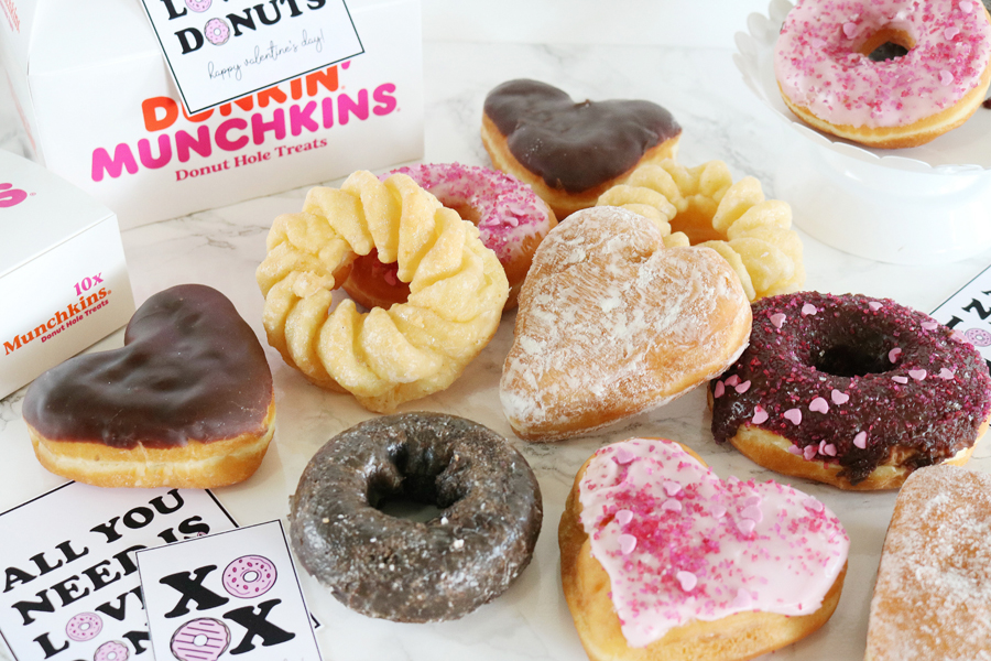 Donut Valentine's Day Gift Idea with Printable Tags