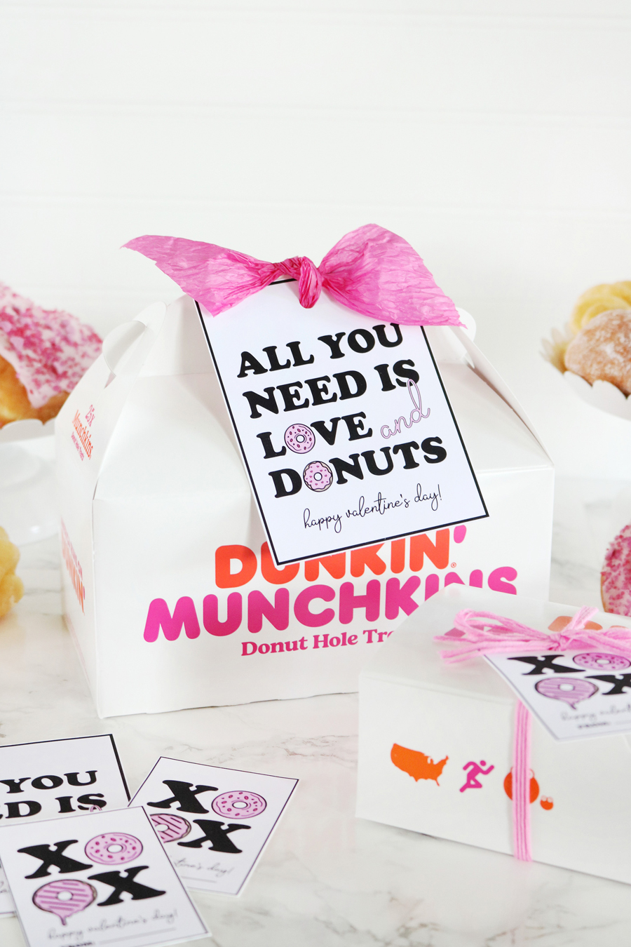 Donut Valentine's Day Printable Tags